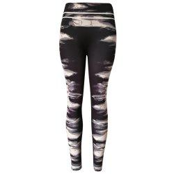 Ink Marks Patterns High Waist Women Tights Pants Leggings for Yoga Running -