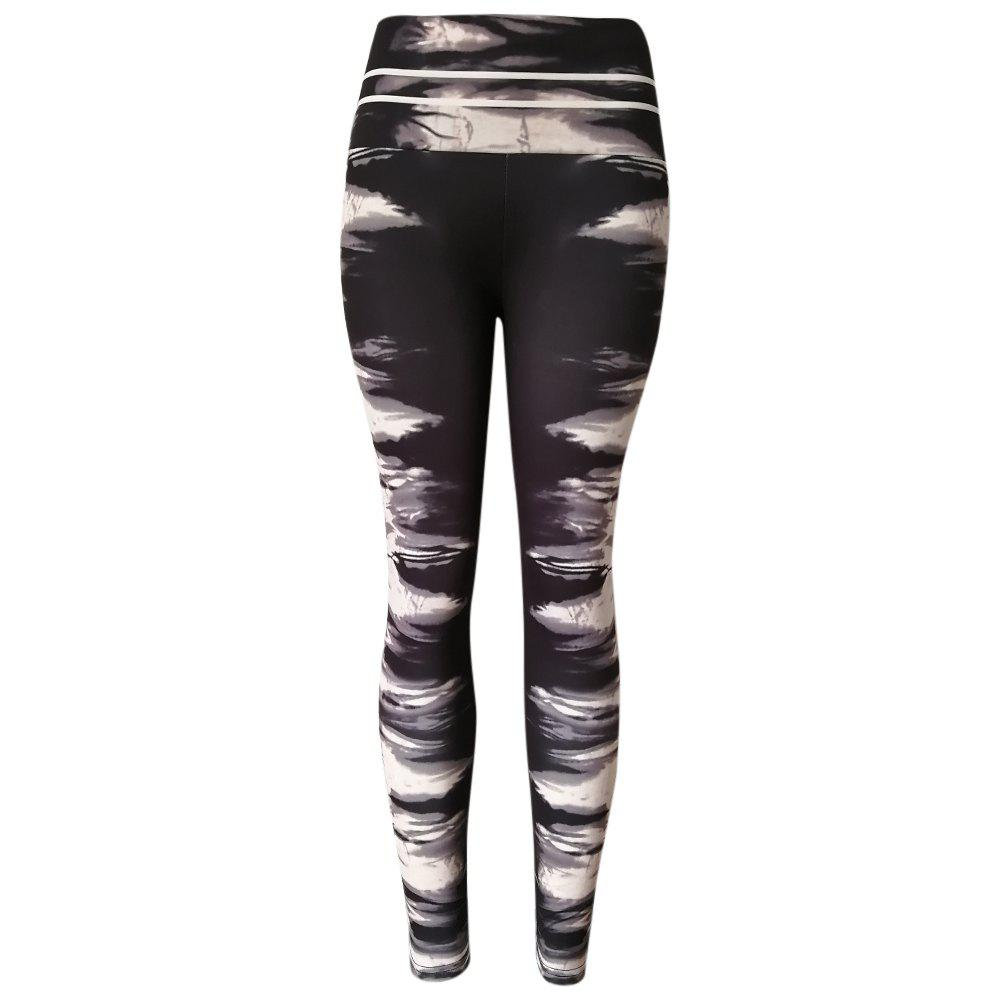 Fashion Ink Marks Patterns High Waist Women Tights Pants Leggings for Yoga Running