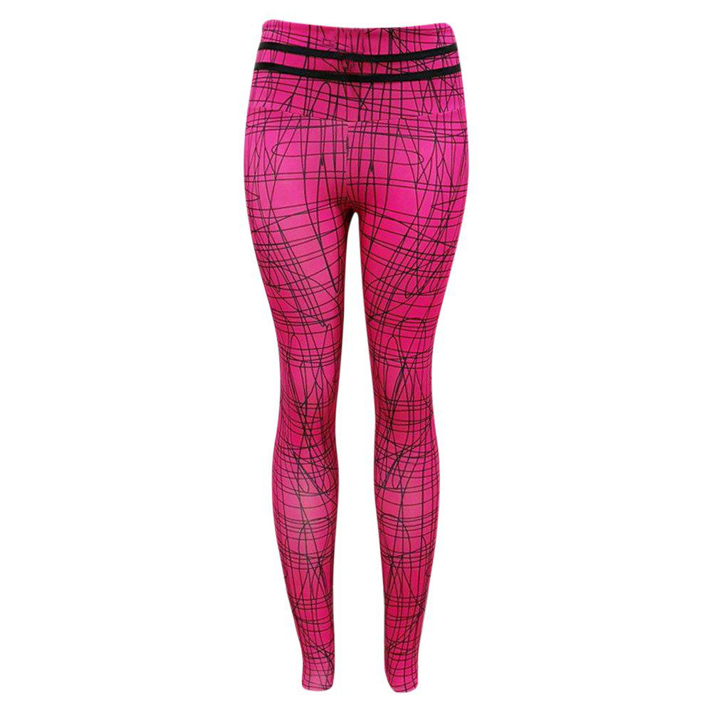 Unique Irregular Lines Patterns High Waist Women Tights Yoga Pants Leggings