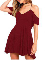 Woman's Sexy Short Sleeve Dress -
