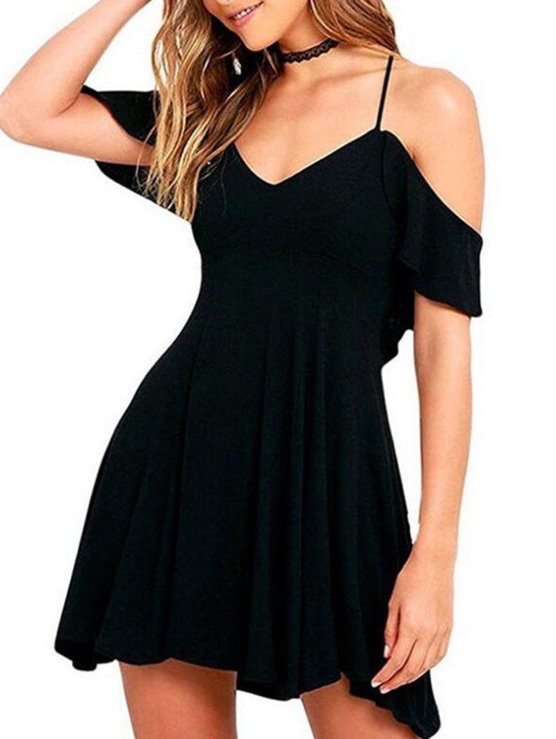 Affordable Woman's Sexy Short Sleeve Dress