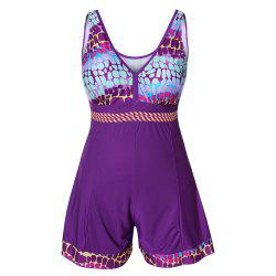 Plus Size Bikini Swimwear Two Pieces Printed Beachwear Tankini Women Swimsuit -