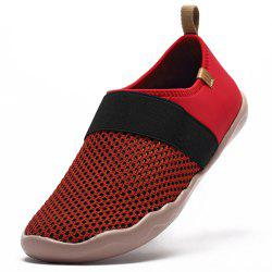 UIN Women's Bejer Painted Canvas Slip-On Fashion Travel Art Casual Shoe Red -