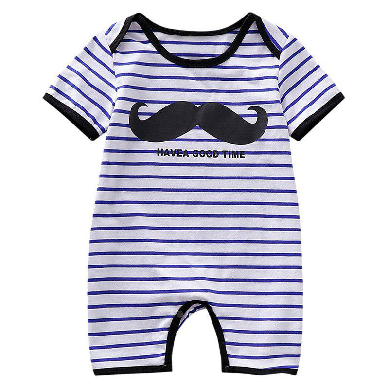Fancy AD0012 Baby Boys Girls Bodysuit Romper Jumpsuit Stripe Printed Short Sleeve