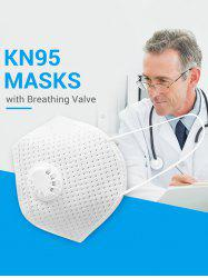 5PCS Breathing Valve KN95 Masks With FDA And CE Certification 4-layer Protection For Dust Spit Splash -