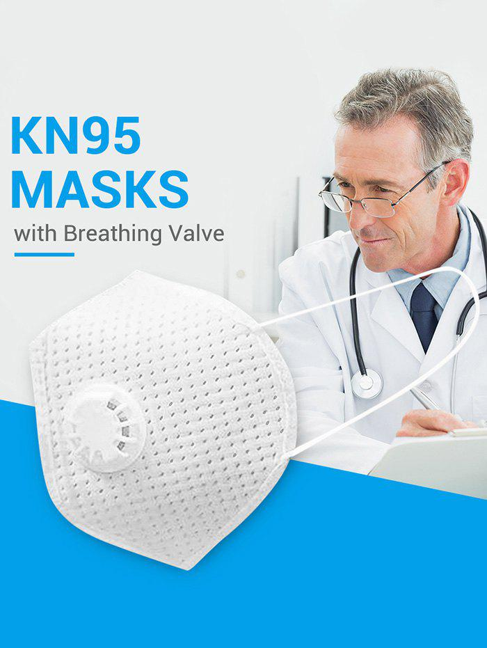 Shops 5PCS Breathing Valve KN95 Masks With FDA And CE Certification 4-layer Protection For Dust Spit Splash