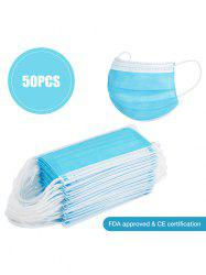 50PCS 3-layer Face Masks With FDA And CE Certification Dustproof Anti-bacteria Disposable Protection -
