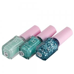 Fashion Magic Candy 3 Colors Gradient Nontoxic Gel Nail Polish Set - GREEN 04