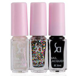 Fashion Magic Candy 3 Colors Gradient Nontoxic Gel Nail Polish Set