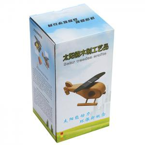 Solar Wooden Helicopter Model Toy Educational Novel Gift -