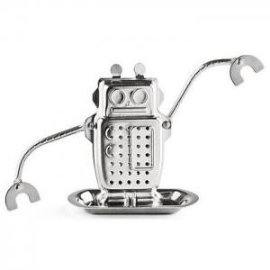 Stainless Steel Robot Shape Tea Filter Creative Teabags Strainer