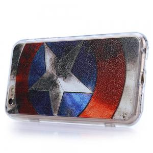 Captain America Pattern PVC Material Protective Back Case for iPhone 6 / 6S -