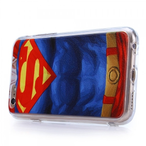 Super Man Pattern PVC Material Protective Back Case for iPhone 6 / 6S -