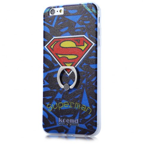 Best Super Man PVC Material Protective Back Case with Ring Stand for iPhone 6 Plus / 6S Plus