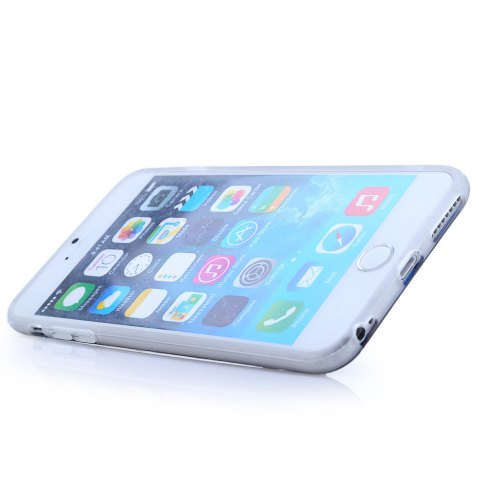 Trendy Super Man PVC Material Protective Back Case with Ring Stand for iPhone 6 Plus / 6S Plus - TRANSPARENT  Mobile