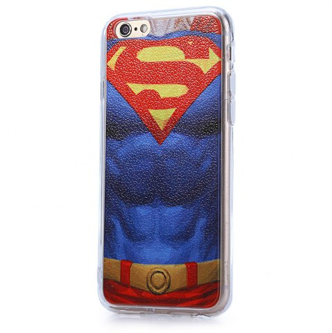 Affordable Super Man Pattern PVC Material Protective Back Case for iPhone 6 / 6S