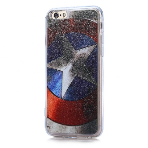 Trendy Captain America Pattern PVC Material Protective Back Case for iPhone 6 / 6S
