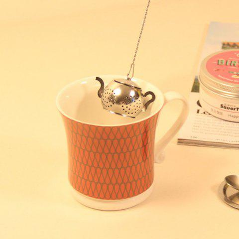 Online Stainless Steel Teapot Shape Tea Filter Creative Teabags Infusers