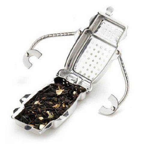 Fancy Stainless Steel Robot Shape Tea Filter Creative Teabags Strainer - SILVER  Mobile