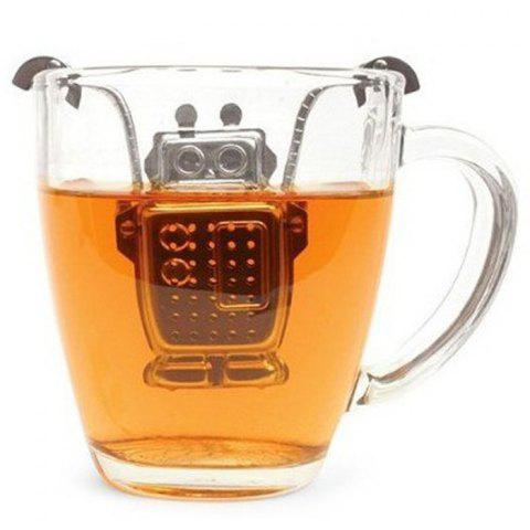 Affordable Stainless Steel Robot Shape Tea Filter Creative Teabags Strainer - SILVER  Mobile