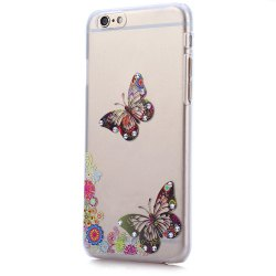 Pattern with Diamond Design Protective Back Case for iPhone 6 / 6S Frosted Surface -