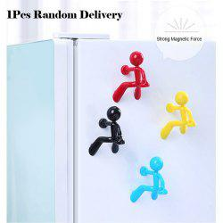 Mini Q-Man Fridge Magnet Cute Rubber Man Toy Novelty Curiously Awesome Gift -