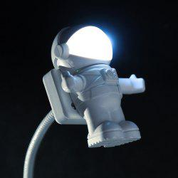 SHENGHUOYANYI Creative Night-light Astronaut Figure USB Lamp Energy Saving - WHITE