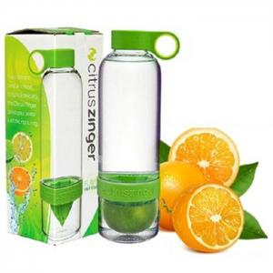 Portable Plastic Lemon Bottle Water Cup - 830ml - ORANGE