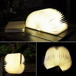 Lampe LED de Nuit Livre Page Flip Lampe de Table Pliable USB Charge - Blanc Chaud