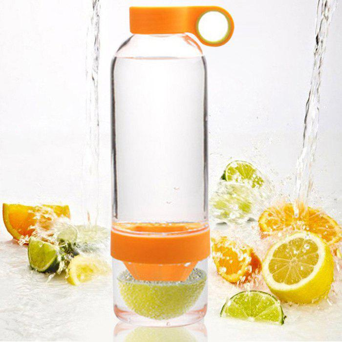 Portable Plastic Lemon Bottle Water Cup - 830mlHOME<br><br>Color: ORANGE; Style: Sport,Creative; Type: Water,Milk,Fruit Juice,Beer,Tea,Coffee,Others; Suitable for: Party,Home,Travelling,Climbing,Bar,KTV,Camping,Others; Material: Plastic; Color: Green,Rose,Orange; Package weight: 0.420 kg; Product weight: 0.350 kg; Product size (L x W x H): 25.00 x 7.50 x 7.50 cm / 9.84 x 2.95 x 2.95 inches; Package size (L x W x H): 27.00 x 9.00 x 9.00 cm / 10.63 x 3.54 x 3.54 inches; Package Contents: 1 x Lemon Bottle;