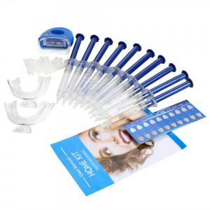 Dental Whitening Teeth Bleaching Kit with Mini LED Light Beauty Gadget - BLUE