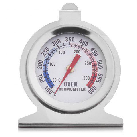 Best Heat-resistant Stainless Steel Dial Oven Thermometer Food Meat Temperature Measurement Tool - SILVER  Mobile