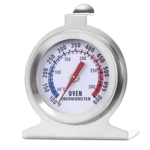Fancy Heat-resistant Stainless Steel Dial Oven Thermometer Food Meat Temperature Measurement Tool - SILVER  Mobile