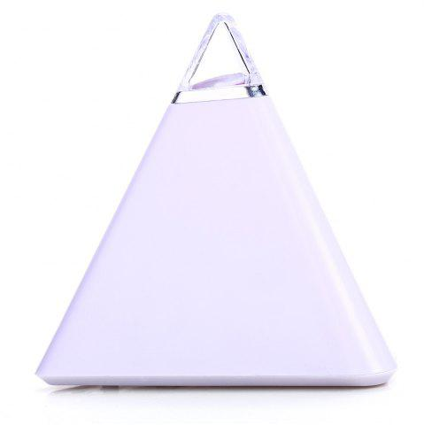 Store Pyramid Style Color Changing LED Digital Alarm Clock Thermometer Mode Calendar Display - WHITE  Mobile