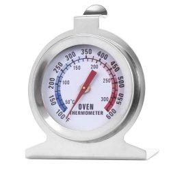 Heat-resistant Stainless Steel Dial Oven Thermometer Food Meat Temperature Measurement Tool - SILVER
