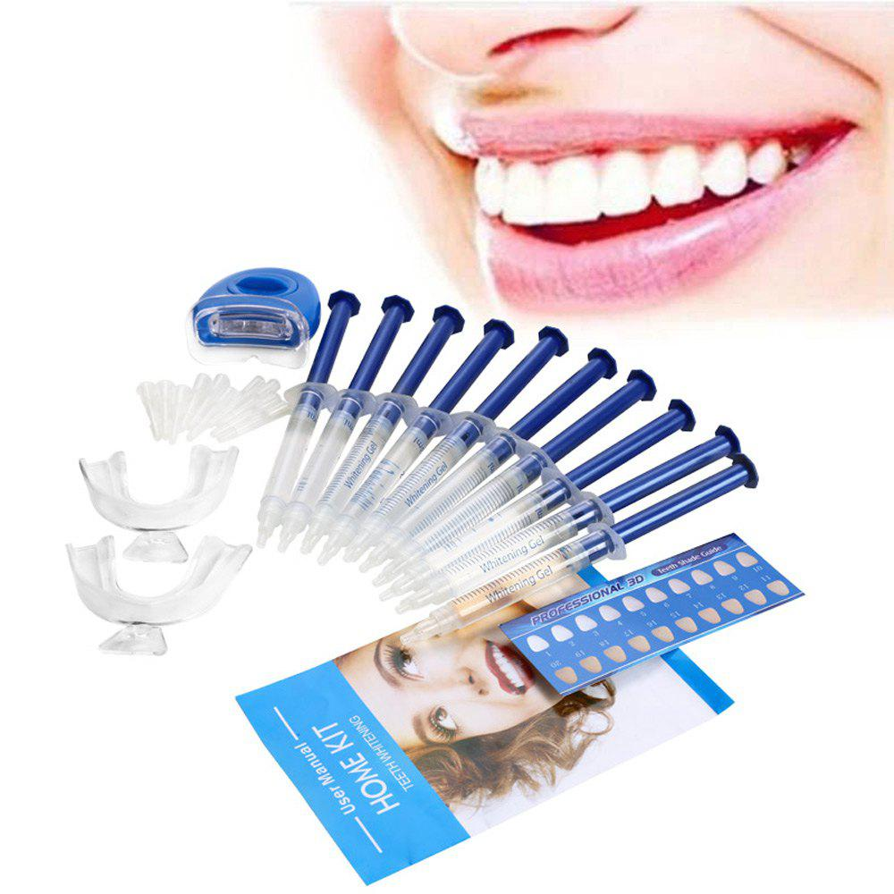 Dental Whitening Teeth Bleaching Kit with Mini LED Light Beauty GadgetBEAUTY<br><br>Color: BLUE; Category: Dental Whitening Kit; Material: Plastic,Silicone;