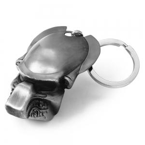 Mental Alien Head Style Key Ring Portable Bulk Keychain -