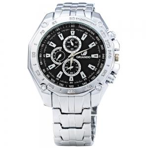 ORLANDO 410 Men Quartz Watch with Decorative Sub-dials -