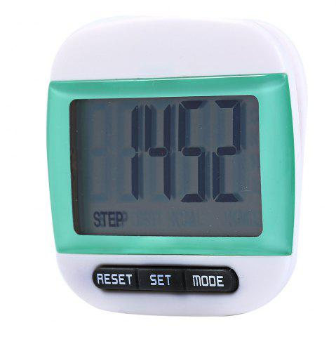 Hot 667 Square-shaped Electrical Pedometer with Large LCD Screen / Waist Clip - GREEN  Mobile