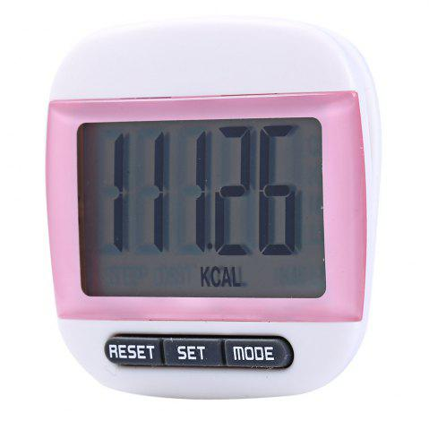 Chic 667 Square-shaped Electrical Pedometer with Large LCD Screen / Waist Clip - PINK  Mobile