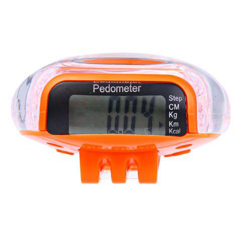 Chic 538 Electrical Pedometer with Square Shape ORANGE
