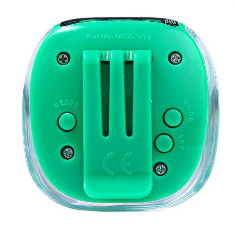Trendy 538 Electrical Pedometer with Square Shape - GREEN  Mobile