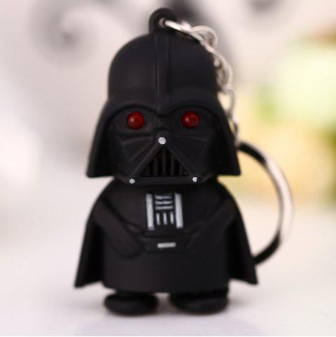 Outfits Darth Vader Style Key Ring Voice Light Control Bulk Keychain - DARTH VADER STYLE BLACK Mobile