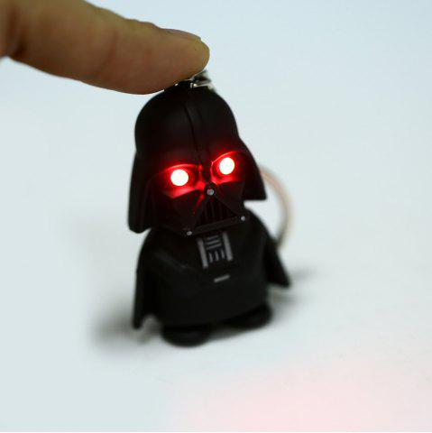 Discount Darth Vader Style Key Ring Voice Light Control Bulk Keychain - DARTH VADER STYLE BLACK Mobile