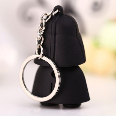 New Darth Vader Style Key Ring Voice Light Control Bulk Keychain - DARTH VADER STYLE BLACK Mobile