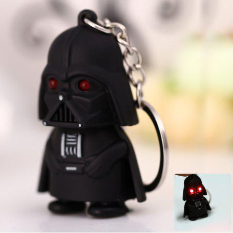 Chic Darth Vader Style Key Ring Voice Light Control Bulk Keychain - DARTH VADER STYLE BLACK Mobile