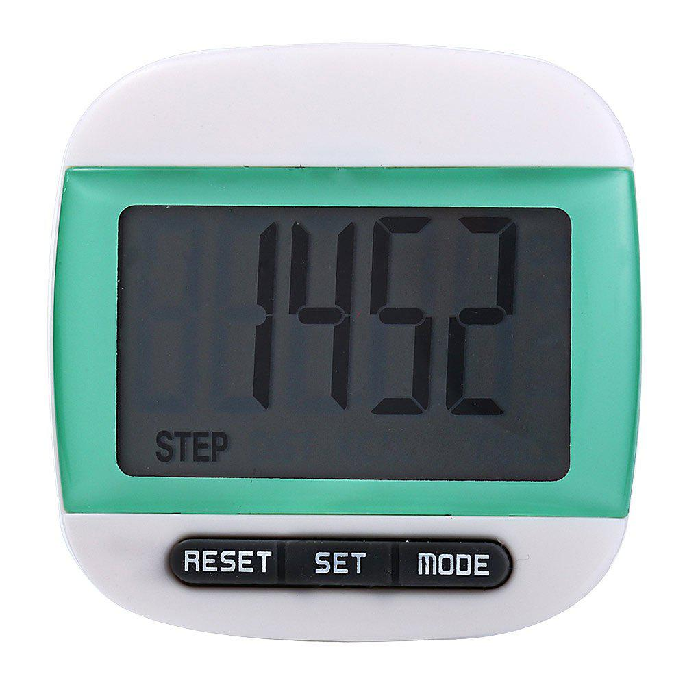 667 Square-shaped Electrical Pedometer with Large LCD Screen / Waist ClipHOME<br><br>Color: GREEN; Model: 667; Type: Pedometer; Color: Red,Blue,Green,Yellow,Pink,Black; Battery Model: AG10;