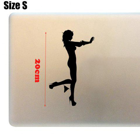 Outfits Sexy Outline Pattern Sticker Creative Decorative Paster - SIZE S BLACK Mobile