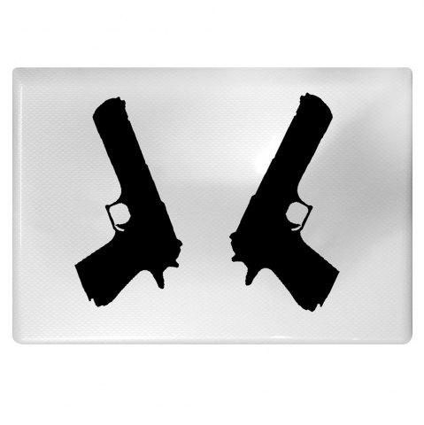 Cheap 2PCS Pistol Style Notebook Sticker Creative Computer Decorative Paster - BLACK  Mobile