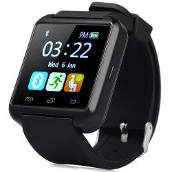 U8S Smart Bluetooth Watch with Pedometer for Sport - BLACK